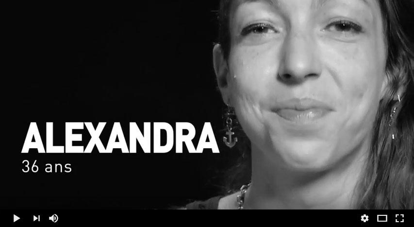 témoignage vidéo Alexandra séropositive